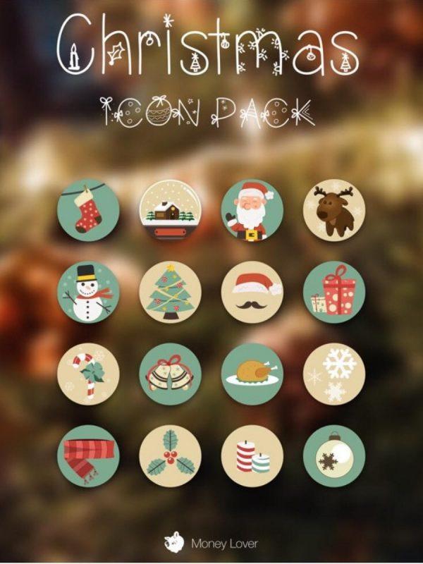 Money Lover ra mắt 03 bộ icon mùa giáng sinh