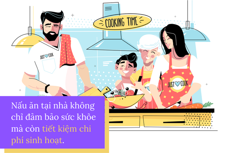 Nấu ăn tại nhà thường xuyên