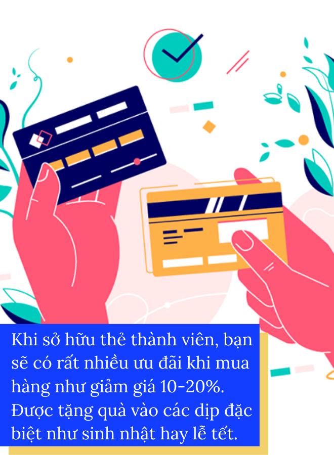 Sử dụng thẻ thành viên khi mua sắm