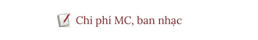 chi phí MC
