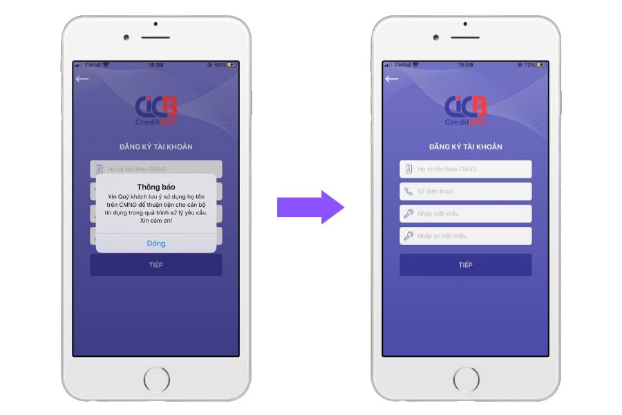 ứng dụng CiCB