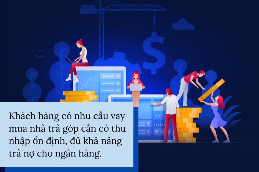 mua nhà trả góp cho người thu nhập thấp